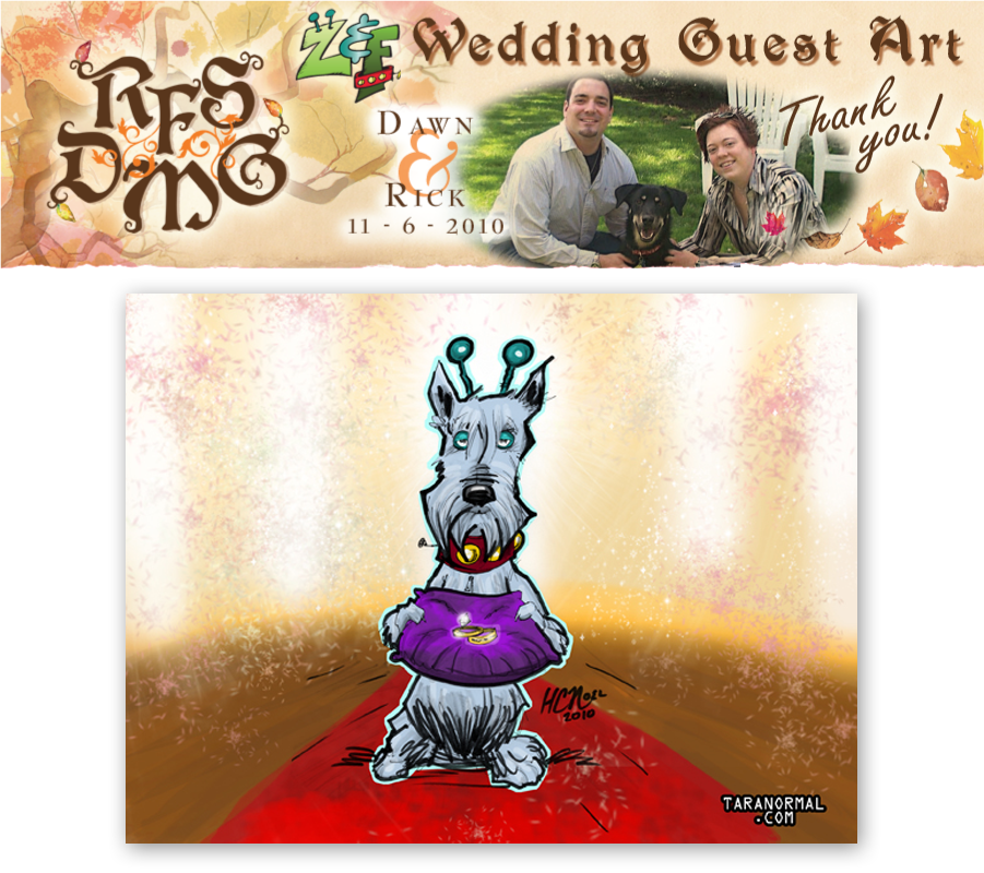 Wedding Guest Art: HC Noel